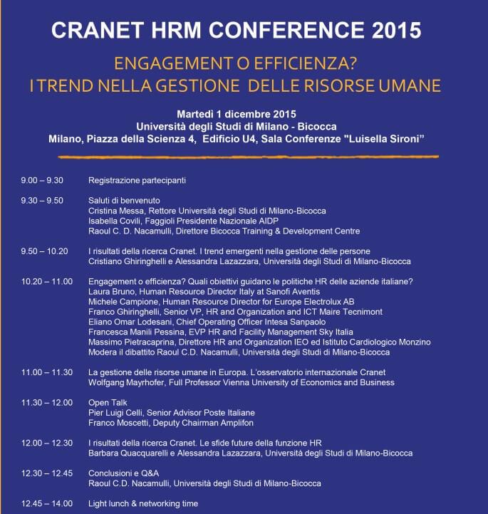 programma Cranet 2015