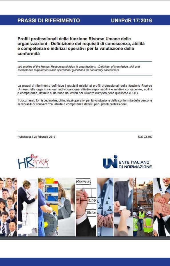 UNI/PdR 17:2016 Profili Professionali della Funzione Risorse Umane