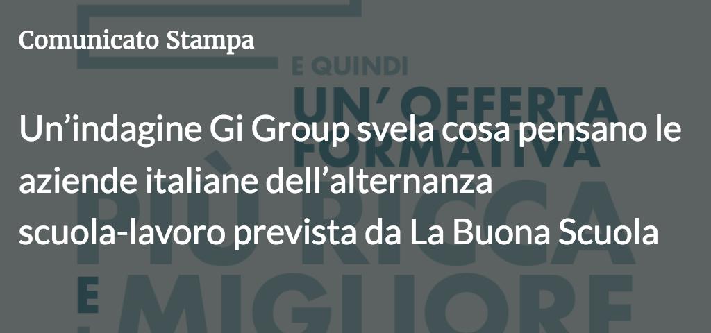Un'indagine Gi Group svela cosa pensano le aziende italiane dell'alternanza scuola-lavoro prevista da La Buona Scuola