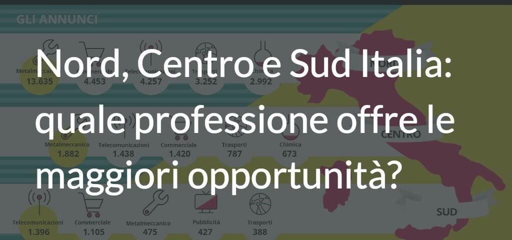 Nord, Centro e Sud Italia: quale professione offre le maggiori opportunità?