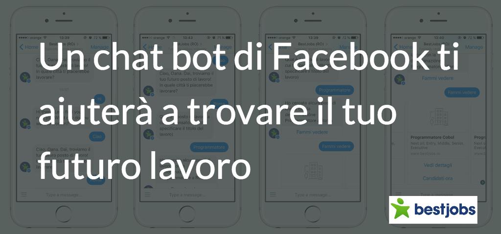 Un chat bot di Facebook ti aiuterà a trovare il tuo futuro lavoro