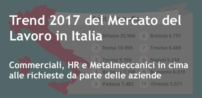 Trend 2017 del mercato del lavoro in Italia