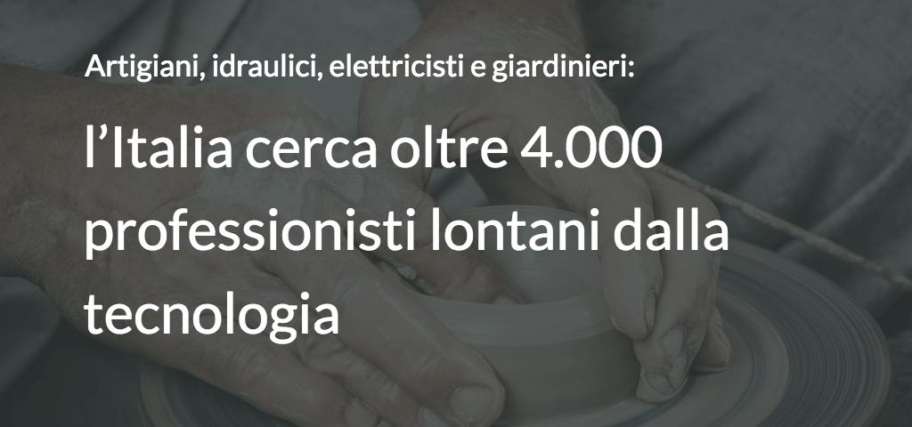 Artigiani, idraulici, elettricisti e giardinieri: l'Italia cerca oltre 4.000 professionisti lontani dalla tecnologia
