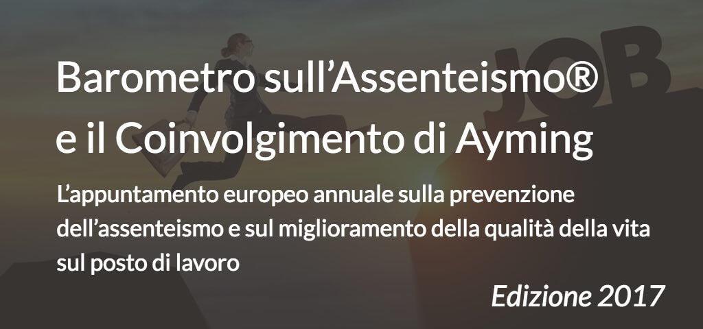 Barometro sull'Assenteismo® e il Coinvolgimento di Ayming 2017