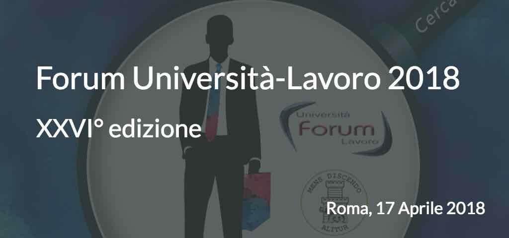Forum Università e Lavoro 2018