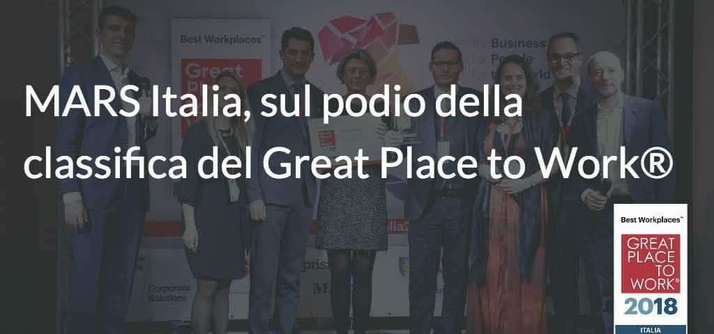 MARS Italia, sul podio della classifica del Great Place to Work®