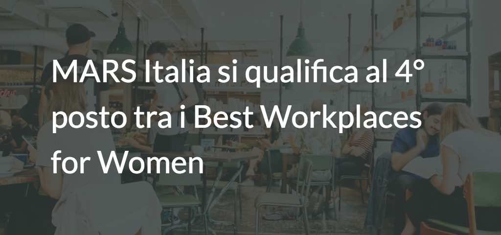 MARS Italia Best Workplaces for Women