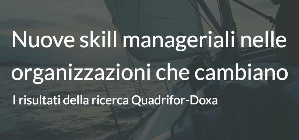 nuove skill manageriali nelle organizzazioni che cambiano