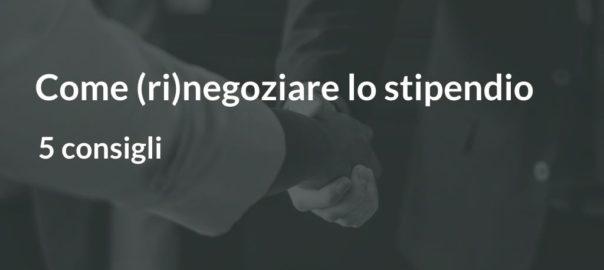 Come rinegoziare lo stipendio