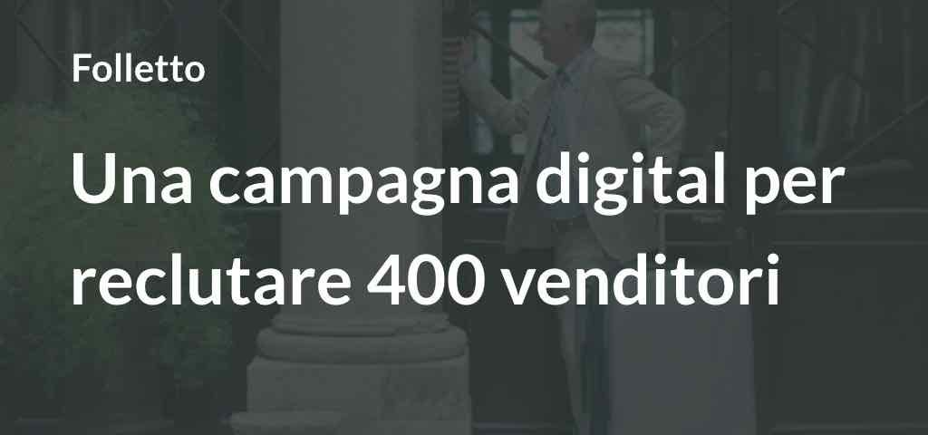 Folletto: al via con una campagna digital per reclutare 400 venditori