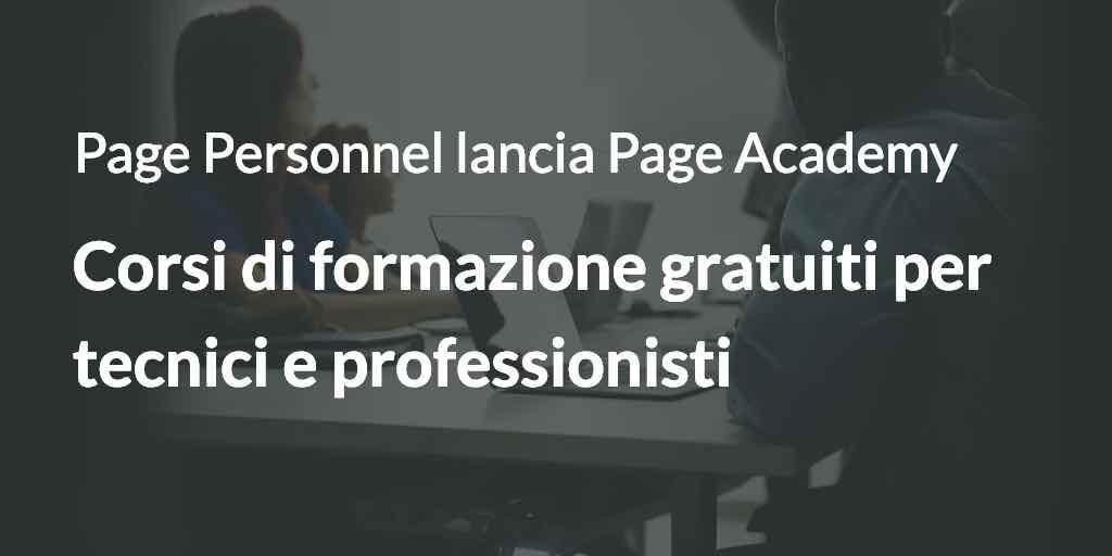 corsi di formazione gratuiti per tecnici e professionisti