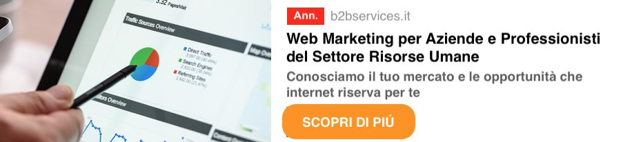 Web Marketing per Aziende e Professionisti del Settore Risorse Umane