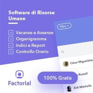 Factorial HR - Software Risorse Umane Gratis - Vacanze - Organigramma - Indici - Controllo Orario