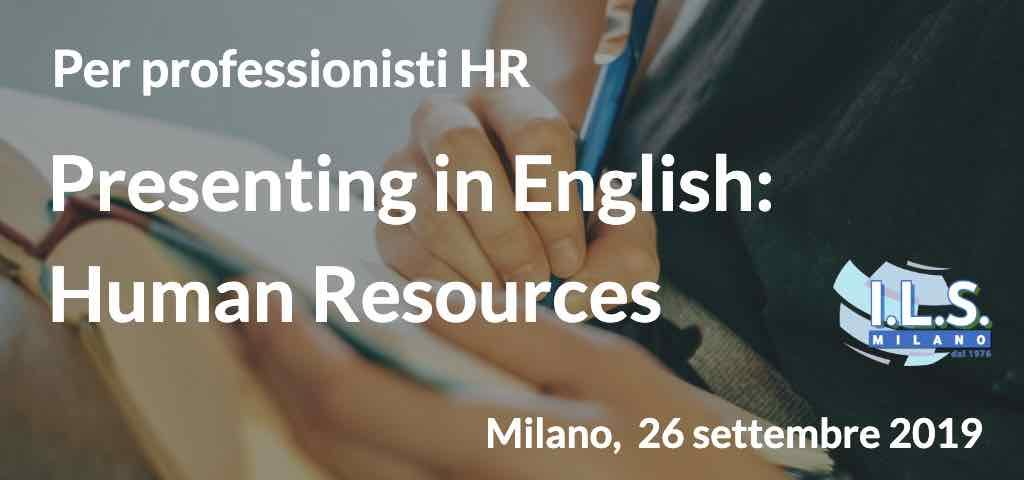 Presenting in English- Human Resources