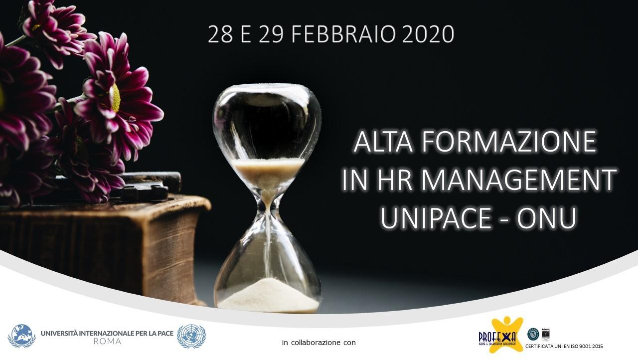 Corso di Alta Formazione in HR Management UNIPACE ONU
