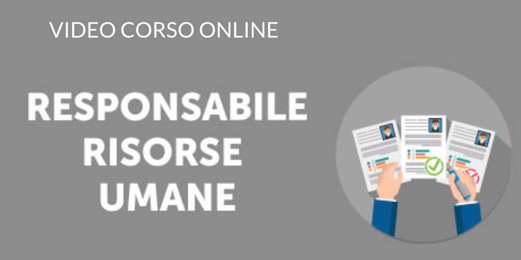 CORSO ONLINE RESPONSABILE RISORSE UMANE