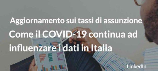 COVID-19 e tassi di assunzione in Italia