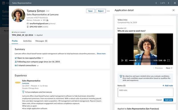 LinkedIn videopresentazione
