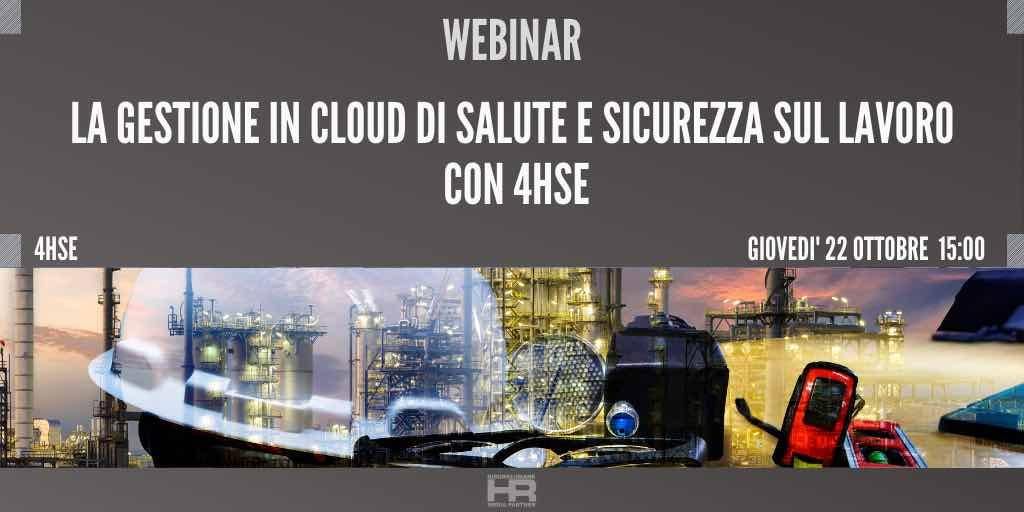 La gestione in cloud di Salute e Sicurezza sul lavoro con 4HSE
