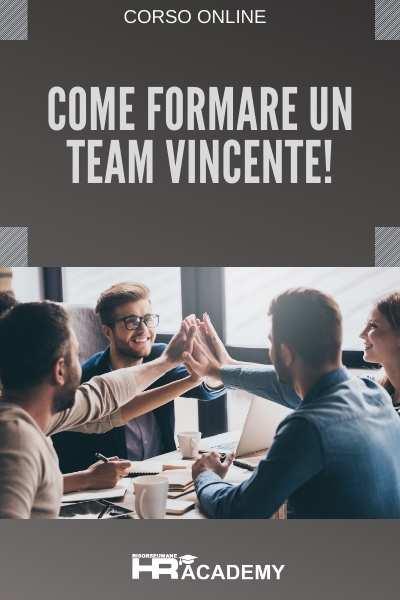 video corso come formare un team vincente