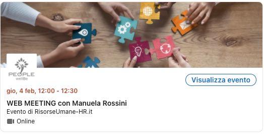 Web Meeting con Manuela Rossini