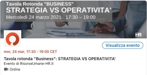 Strategia vs operatività 24 amarzo