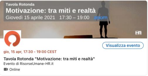 evento motivazione