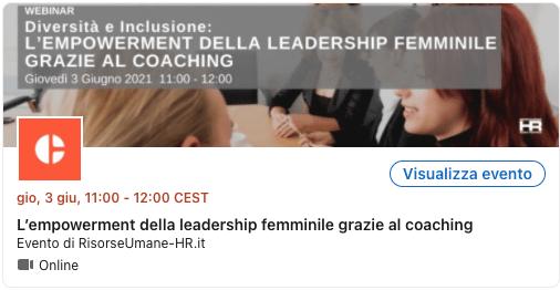 L'empowerment della leadership femminile grazie al coaching