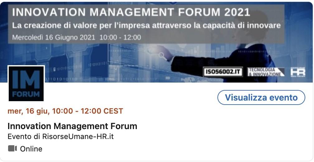 innovation management forum 2021