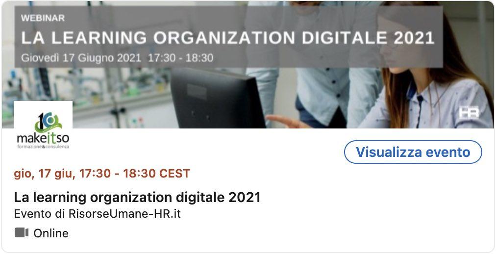 la learning organization digitale 2021